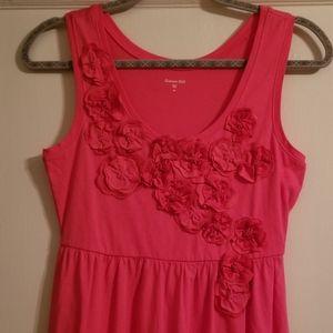 Garnet Hill Floral Applique Dress